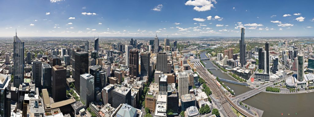 Melbourne Skyline (cc-by) Diliff